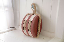 new Wooden Block Tackle Pulley with rope / Pulleys for Decorating RED