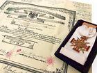 Antique Masonic 32 & 33 Degree Freemason Scottish Rite 14K Jewels & CERTIFICATES