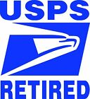 (2) Postal Service Retired Eagle Decals Stickers Signs USPS