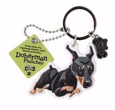 Doberman Pinscher 3D Key Ring Bag Charm Tag Dog Lovers Gift Stocking Filler
