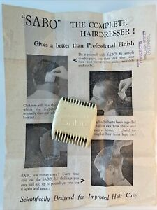 """Antique """" Sabo """" Do It Yourself Hairdresser From Lewis's, Liverpool+Instructions"""