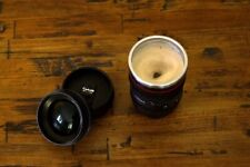 Caniam Self Stirring Camera Lens Mug, EF 24-105mm Macro, Black, Stainless Steel