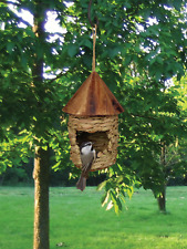 Bird house Small Hanging Grass Twine House with Roof Organic