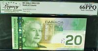 HIGH GRADE 2 DIGIT RADAR 9111119   BANK OF CANADA 2004 $20