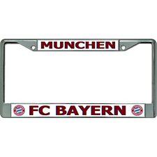 fc bayern munchen munich football club chrome license plate frame made in usa