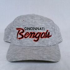 VTG Sports Specialties Script Snapback Hat Heather Grey Cincinnati Bengals 90's