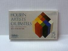 Holbien Artists Oil Pastels 15 Sticks Assorted Colors