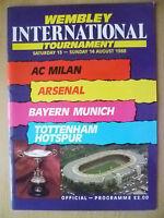 1988 International Tournament- AC MILAN v ARSENAL/ BAYERN v TOTTENHAM (Org,Exc*)