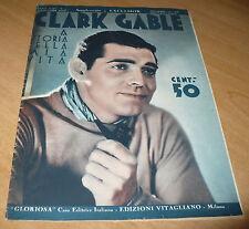 CINEMA SUPPLEMENTO A EXCELSIOR N.41 1933 CLARK GABLE LA STORIA DELLA MIA VITA