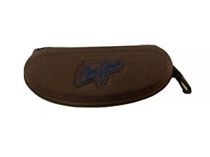 MAUI JIM Sunglasses Protective Hard Case Unisex Nylon Brown Zip w/ Belt Clip