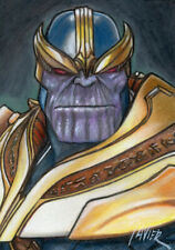 Avengers THANOS Mad Titan MARVEL COMICS SKETCH Card PRINT 1 of 15 ART