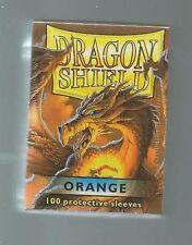 (100) Dragon Shield ORANGE Protective Sleeves Sealed Magic MTG FREE SHIPPING