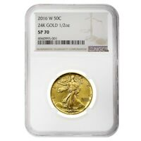 2016 W 1/2 oz Walking Liberty Half Dollar Centennial Gold Coin NGC SP 70
