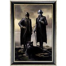 STARBOY Daft Punk & The Weeknd 16 x 24 Metallic Print Poster w/Matching Frame