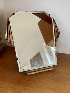 Gorgeous Original Art Deco Free Standing Dressing Table Mirror - Bevelled Glass