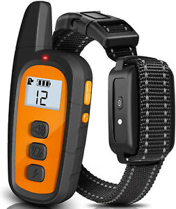 Dog Shock Collar, Dog Training Collar with Remote, Rechargeable (Orange)