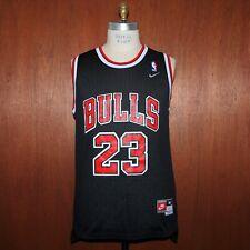 Vtg NIKE Chicago Bulls Basketball Jersey # 23 Michael Jordan Sewn Black bk5