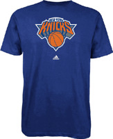 New York Knicks Primary Logo NBA Short Sleeve T Shirt by Adidas