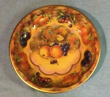 Vintage 1971 Daher Ware - Fruit decorated TIN SERVING DISH Made in England