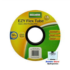 HOLMAN 4mm X 50M EYZ FLEXI TUBE BLACK SOFT HYDROPONIC OR IRRIGATION HOSE PIPE