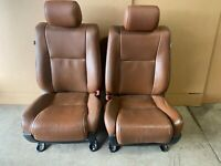 2011 TOYOTA SEQUOIA PLATINUM FRONT LEATHER BUCKET SEATS BROWN HEAT AND COOLED