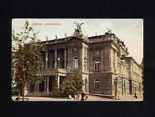 (RUCO 103) Switzerland 1901 Zurich Zürich pictorial card City theater Architect