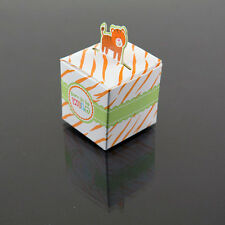 24 Tiger Born To Be Wild Jungle Baby Shower Favor Candy Box Party Stripe Orange