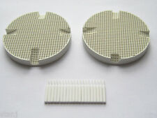 2 Dental Lab Honeycomb Firing Trays w/ 20 Zirconia Pins