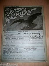 1892 April 2nd  Illustrated American Magazine  MUSEUM FILED  VF/NM
