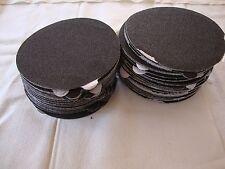 "5"" Inch 100 Sandpaper Disks 120 Grit Peel & Stick Adhesive Abrasive Sand Paper"