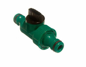 NEW GREEN QUICK FIX CLICK SNAP FIT IN LINE TAP GARDEN HOSE CONNECTOR TOOLS QTY 2