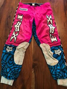"Vintage Fox Image Racing Spiderweb Motocross Pants - size 34"" - made in Finland"