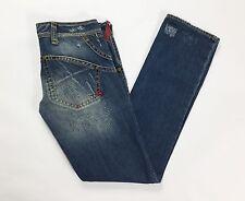 Cycle jeans donna W31 tg 44 46 gamba dritta usato slim blu vita bassa hot T1210