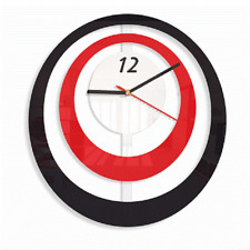 Modern Large Wall Clock Home Decoration Living Room Bedroom Black Red White