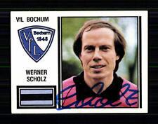 Werner Scholz VFL Bochum 1981 Panini Sammelbild Original Signiert +A 74876