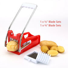Kitchen Potato Chipper Steel Blades Potato French Fry Chips Slicer Cutter Tool