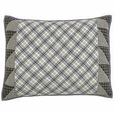 Maddox Blue Checked Cottage King Queen Pillow Sham