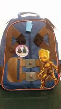 """Marvel Guardians Of The Galaxy Baby Groot Backpack With Hidden Hood 14"""" X 16"""""""