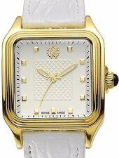 New Ladies Roberto Cavalli Swiss Made White Square Dial Venom Luxury Dress Watch