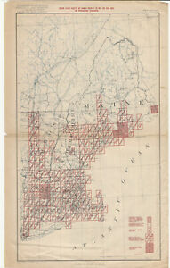 1916 Interior Department New England Topographic Maps Brochure American Map