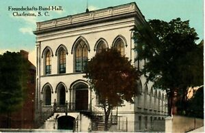 Early 1900's The Freundschafts-Bund Hall in Charleston, SC South Carolina PC