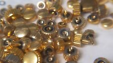 MIX Bag of 100 YELLOW CROWNS TAP 10 (0.90) WATERPROOF for watch repair parts NEW