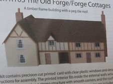 OO gauge BarleyCorn Designs pre-cut Card Kit - R103 The Old Forge  / Cottages