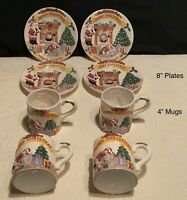 The Heritage Mint Ltd Holiday Collection Plate Mug Set Cookies For Santa