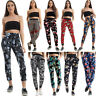 WOMENS LADIES FLORAL PRINT ELASTICATED PLAZZO TROUSERS SUMMER LOUNGE PANTS SIZE