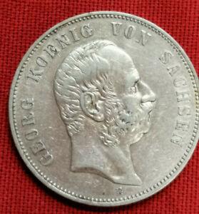 5 Mark 1903 F König v. Sachsen Silber Münze