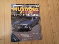 MUSTANG 1964 1/2 - 1970 RESTORATION GUIDE MOTORBOOKS AUTHENTIC CORCORAN & DAVIS