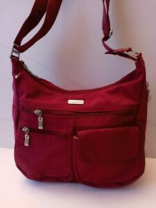 Baggallini Everywhere Bagg Crossbody Handbag Purse Bag Red