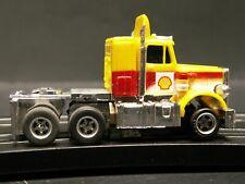 RARE - AFX Peterbilt Semi Truck Yellow/Red/White w/ Shell Decals - NOS