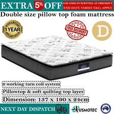 Pillow Top Soft Mattress DOUBLE Layer Quilting Firmness Firm Matress Bed Medium